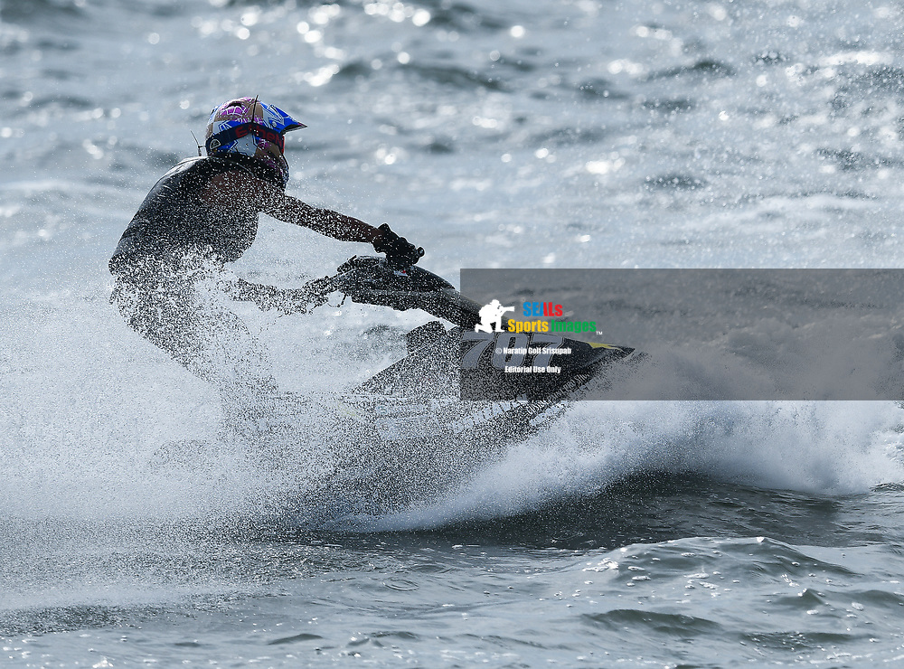 PATTAYA, THAILAND - DECEMBER 09: Kimiaki Ishikawa (J707) of Japan and Marine Mechanic in action during the Pro Ski Grandprix Moto4 at the Thai Airways International Jet Ski World Cup 2018, Jomtien Beach, Pattaya, Thailand on December 09, 2018. <br /> .<br /> .<br /> .<br /> (Photo by: Naratip Golf Srisupab/SEALs Sports Images)<br /> .<br /> Any image use must include a mandatory credit line adjacent to the content which should read: Naratip Golf Srisupab/SEALs Sports Images