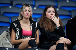 BOLTON, ENGLAND - Sunday, October 31, 2010: Two girls sitting in the Friends & Family seats during the Premiership match between Bolton Wanderers and Liverpool at the Reebok Stadium. (Pic by: David Rawcliffe/Propaganda)
