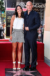 26.08.2013, Hollywood, USA, Vin Diesel erhält Stern Nummer 2504 auf dem weltberühmten Walk of fame, im Bild Actress Jordana Brewster and Actor Vin Diesel // during the ceremony honoring him with a star on The Hollywood Walk of Fame held in Hollywood, United States of Amerika on 2013/08/26. EXPA Pictures © 2013, PhotoCredit: EXPA/ Newspix/ MediaPunch Inc<br /> <br /> ***** ATTENTION - for AUT, SLO, CRO, SRB, BIH, TUR, SUI and SWE only *****