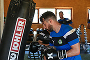 Forest Green Rovers goalkeeper Sam Russell(23) having a gym session during the Forest Green Rovers Training session at Browns Sport and Leisure Club, Vilamoura, Portugal on 24 July 2017. Photo by Shane Healey.