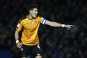 Wolverhampton Wanderers defender Richard Stearman (5) during the EFL Sky Bet Championship match between Brighton and Hove Albion and Wolverhampton Wanderers at the American Express Community Stadium, Brighton and Hove, England on 18 October 2016. Photo by Bennett Dean.