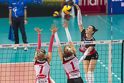 December 12, 2017 - Busto Arsizio, Varese, Italy - Alessia Gennari (#6 Yamamay e-work Busto Arsizio) during the Women's CEV Cup match between Yamamay e-work Busto Arsizio and ZOK Bimal-Jedinstvo Brcko at PalaYamamay in Busto Arsizio, Italy, on 12 December 2017. Italian Yamamay e-work Busto Arsizio team defeats 3-0 Bosnian ZOK Bimal-Jedinstvo Brcko. (Credit Image: © Roberto Finizio/NurPhoto via ZUMA Press)