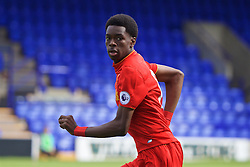 BIRKENHEAD, ENGLAND - Sunday, September 11, 2016: Liverpool's Ovie Ejaria in action against Leicester City during the FA Premier League 2 Under-23 match at Prenton Park. (Pic by David Rawcliffe/Propaganda)