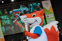 OKS mascot during reception of Slovenian Olympic Team at Vila Podroznik when they came back from Rio de Janeiro after Summer Olympic games 2016, on August 26, 2016 in Ljubljana, Slovenia. Photo by Matic Klansek Velej / Sportida