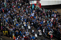 Brighton mods parade passes Brighton Pier - Mandatory by-line: Jason Brown/JMP - 14/05/17 - FOOTBALL - Brighton and Hove Albion, Sky Bet Championship 2017 - Brighton and Hove Albion Promotion Parade