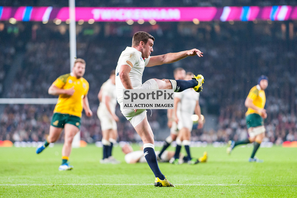 George Ford of England. Action from the England v Australia game in Pool A of the 2015 Rugby World Cup at Twickenham in London, 3 October 2015. (c) Paul J Roberts / Sportpix.org.uk