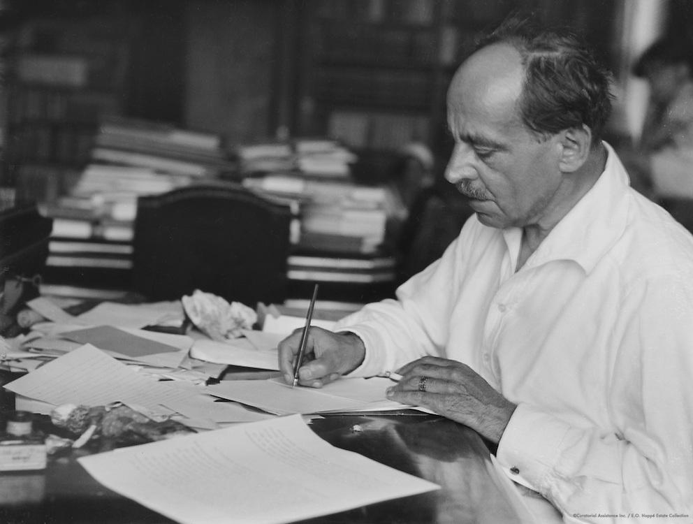 Jacob/Jakob Wasserman, writing. Austria, circa 1933