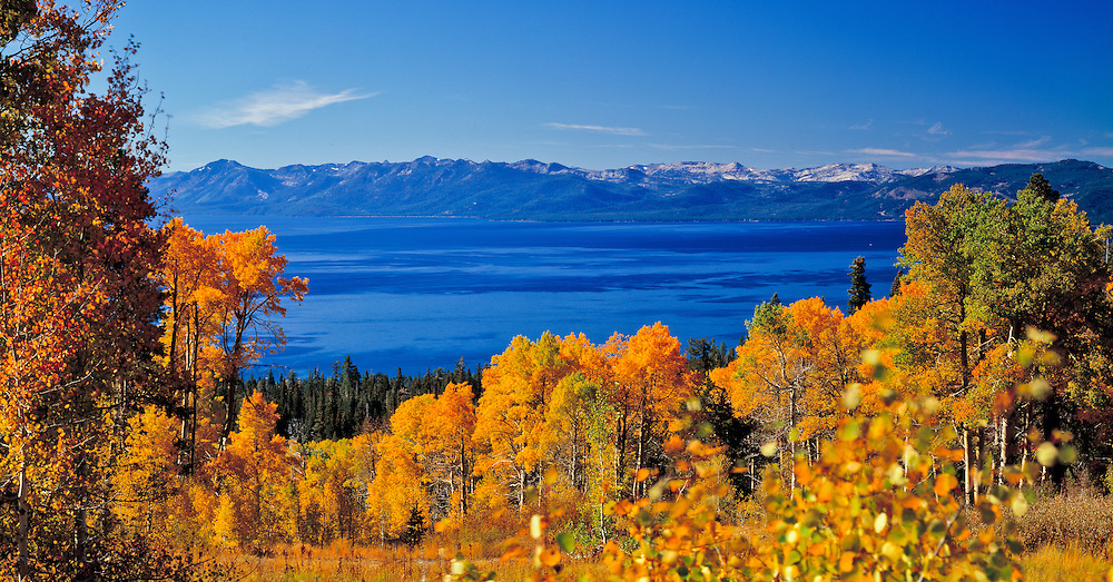 Lake Tahoe Scenic Fall Colors