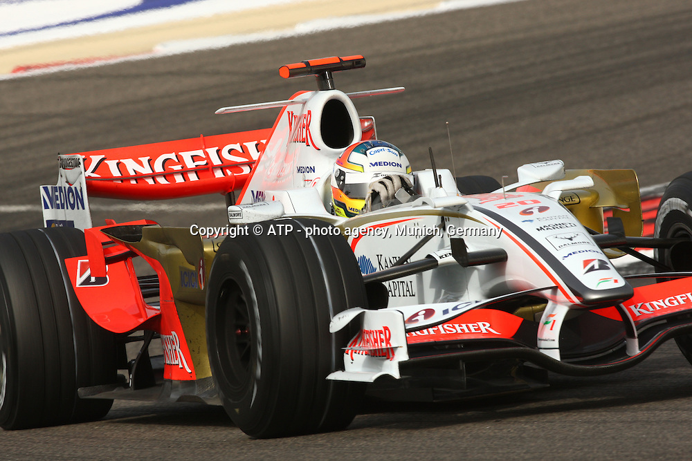 Adrian Sutil, Force India Team. Formula One Grand Prix. Shakir Circuit, Bahrain. 6 March 2008. Photo: ATP/PHOTOSPORT