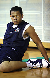 Jonathan Wallace of USA at first open practice of KK Union Olimpija in the new season 2008/2009, on August 21, 2008 in Hala Tivoli, Ljubljana, Slovenia. (Photo by Vid Ponikvar / Sportal Images)