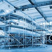 20061115 HELSINKI-VANTAAN LENTOKENTTÄ. Telinerami, telineet Boeing 747:n ympärillä. Kuva: Ismo Henttonen.