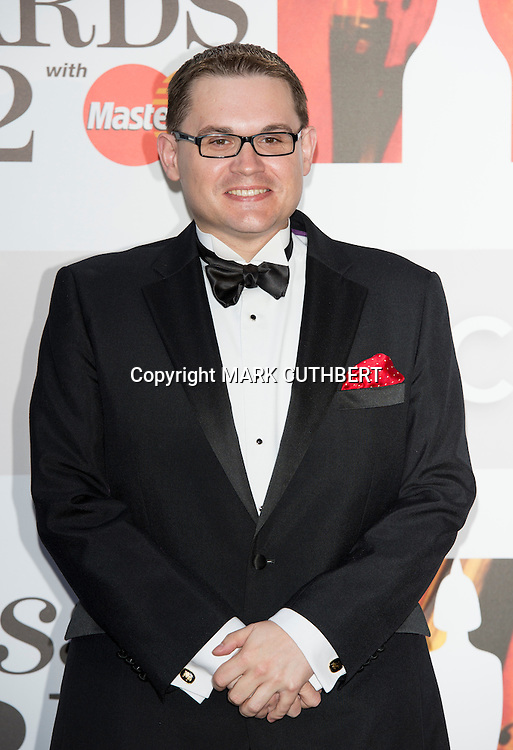 Paul Mealor arriving at the 2012 Classic Brit Awards at the Royal Albert Hall in London.