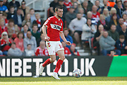 Middlesbrough midfielder Jonathan Howson (16)  during the EFL Sky Bet Championship match between Middlesbrough and Stoke City at the Riverside Stadium, Middlesbrough, England on 19 April 2019.