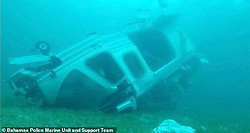 Underwater images of the helicopter in which billionaire coal magnate Chris Cline, his daughter and five others, died in a crash off the Bahamas. The police pictures show the 17-seat Augusta Westland AW-1339 underwater after the tragic accident. Cline was rushing his 22-year-old daughter to a Florida hospital for a medical emergency when their helicopter plunged into the Bahamian sea, according to police. Kameron Cline, 22, began experiencing the unspecified medical issue while attending her dad's birthday party on his private island near Grand Cay. Relatives called authorities when the chopper failed to reach Fort Lauderdale, said Delvin Major, chief of the Bahamian Air Accident Investigation Department,. W The. 06 Jul 2019 Pictured: Doomed helicopter. Photo credit: Bahamas Police Marine Unit/MEGA TheMegaAgency.com +1 888 505 6342