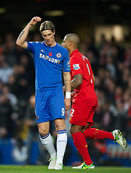 11.11.2012, Stamford Bridge, London, ENG, Premier League, FC Chelsea vs FC Liverpool, 11. Runde, im Bild Chelsea's Fernando Torres looks dejected after missing a chance against Liverpool during the English Premier League 11th round match between Chelsea FC and Liverpool FC at the Stamford Bridge, London, Great Britain on 2012/11/11. EXPA Pictures © 2012, PhotoCredit: EXPA/ Propagandaphoto/ David Rawcliffe..***** ATTENTION - OUT OF ENG, GBR, UK *****
