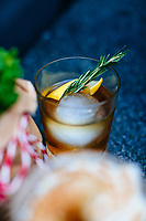 The Whisky Rebellion cocktail--with rye, lemon, and rosemary--at Hyde & Seek in Bangkok, Thailand.