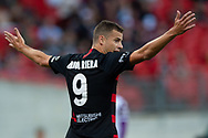 SYDNEY, NSW - FEBRUARY 24: Western Sydney Wanderers forward Oriol Riera?(9) unhappy with a call at round 20 of the Hyundai A-League Soccer between Western Sydney Wanderers FC and Perth Glory on February 24, 2019 at Spotless Stadium, NSW. (Photo by Speed Media/Icon Sportswire)