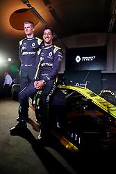 Drivers Niko Hulkenberg (left) and Daniel Ricciardo during the Renault F1 Team 2019 season launch at Whiteways Technical Centre, Oxford.