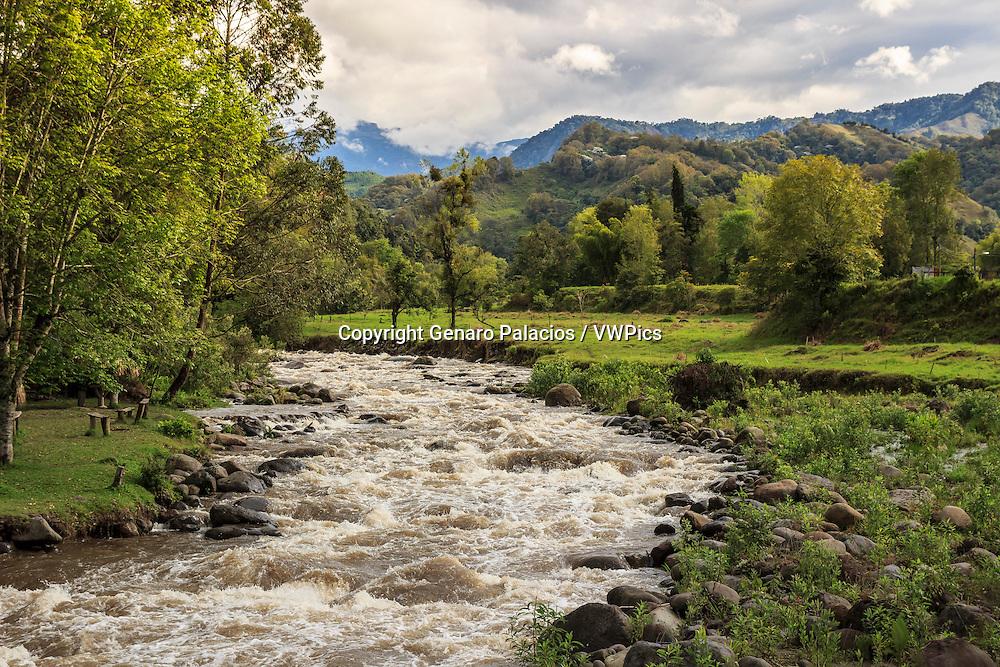 Quindío river in Salento