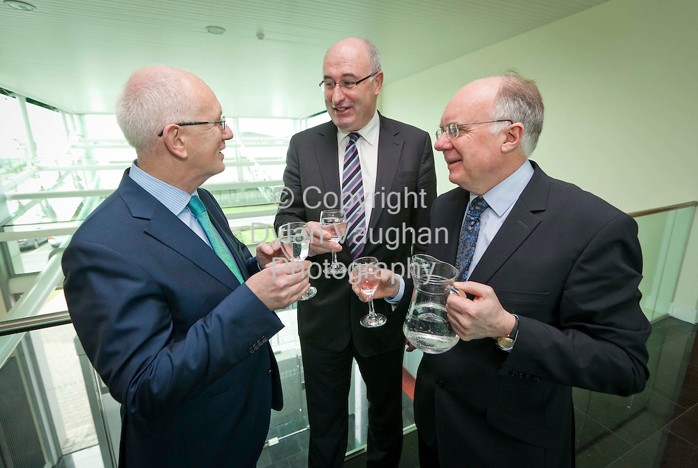 24/2/2012 .No charge for media repro..Belview Strategic Water Supply Scheme to pave way for job creation in Waterford, Kilkenny and the South East....THE first phase of the €23 million Belview Strategic Water Supply Scheme which will facilitate industrial development and job creation in Waterford,Kilkenny and South East was officially opened today (Friday, February 24th) by Minister for Environment, Community and Local.Government, Phil Hogan T.D, IDA Ireland Chief Executive Officer, Barry O'Leary  and Chairman of Kilkenny County Council, Cllr Paul Cuddihy...The new water scheme will service 240 hectares of industrial land  around Belview Industrial Park near Belview Deepwater Port, and allow for the building of.10,000 additional houses in South Kilkenny and Waterford between now and 2031...Pictured are from left, IDA Ireland Chief Executive Officer, Barry O'Leary, Minister for Environment, Community and Local Government, Phil Hogan T.D and Kilkenny City and County Manager, Joe Crockett..Picture Dylan Vaughan.....The Belview Strategic Water Supply Scheme is of major economic benefit to South Kilkenny and the wider South East Region. As well as alleviating pressure on the domestic water supply which resulted in shortages in recent years in South Kilkenny, it will allow for the development of industry in Belview Industrial Park, providing much needed employment in the region. The.scheme is an important strand of the Invest Kilkenny initiative, launched by the Kilkenny local authorities in 2010 to promote the area as an ideal location for business...The total investment for this phase of the scheme is €13m of which a significant amount was provided by IDA Ireland and the balance by Kilkenny County Council and the Department of the Environment, Community and Local.Government.  When all phases are complete, it will represent a total spend of €23m...