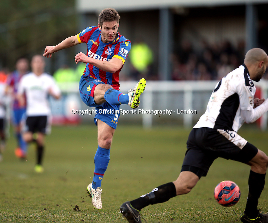 4 January 2015 FA Cup 3rd round - Dover Athletic v Crystal Palace ;  Kevin Doyle of Palace shoots.<br /> Photo: Mark Leech