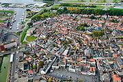 Nederland, Zeeland, Zeeuws-Vlaanderen, 19-10-2014; centrum Terneuzen met gracht.<br /> Downtown Terneuzen with canal.<br /> luchtfoto (toeslag op standard tarieven);<br /> aerial photo (additional fee required);<br /> copyright foto/photo Siebe Swart