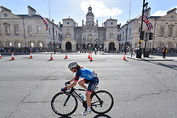 © Licensed to London News Pictures. 11/06/2017. London, UK. A rider passes Horse Guards Parade during the 62km London stage of the OVO Energy Women's Tour.  Photo credit : Stephen Chung/LNP