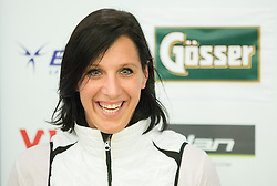 Lana Grandovec of ZUTS during official presentation of the outfits of the Slovenian Ski Teams before new season 2015/16, on October 6, 2015 in Kulinarika Jezersek, Sora, Slovenia. Photo by Vid Ponikvar / Sportida