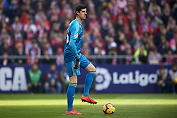 February 9, 2019 - Madrid, Madrid, Spain - Thibaut Courtois of Real Madrid during the week 23 of La Liga between Atletico Madrid and Real Madrid at Wanda Metropolitano stadium on February 09 2019, in Madrid, Spain. (Credit Image: © Jose Breton/NurPhoto via ZUMA Press)