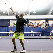 August 25, 2016, New Haven, Connecticut: <br /> John McEnroe participates in a pro-am tournament during the Men's Legends Event on Day 7 of the 2016 Connecticut Open at the Yale University Tennis Center on Thursday, August  25, 2016 in New Haven, Connecticut. <br /> (Photo by Billie Weiss/Connecticut Open)