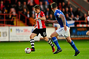 David Wheeler (11) of Exeter City on the attack during the EFL Sky Bet League 2 play off second leg match between Exeter City and Carlisle United at St James' Park, Exeter, England on 18 May 2017. Photo by Graham Hunt.