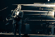 """Michael Buble performs at Key Arena in Seattle during his """"To Be Loved Tour."""" Photo by John Lill"""