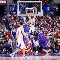 23 November 2013: Los Angeles Clippers power forward Blake Griffin (32) goes for the dunk during the Los Angeles Clippers 103-102 victory over the Sacramento Kings at the Staples Center, Los Angeles, California, USA.