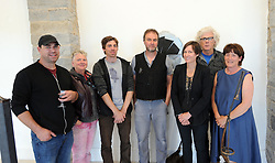 Pictured at the opening of CRUX - A dialogue in Metal an exhibition in Metalwork were John Hogan, Breeda Burns, Moss Gaynor, Michael Calnan, Gunvor Anh&oslash;j, John McHugh and Jane Murtagh. The exhibition opened at Custom House Studios Gallery and runs every day until August 7th 2017.<br />Pic Conor McKeown