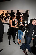 LORENA MARINANI; ROBERTA ARMANI, Richard Hambleton private view.- New York- Godfather of Street art presented by Vladimir Restoin Roitfeld and Andy Valmorbida in collaboration with Giorgio armani. The Old Dairy. London. 18 November 2010. -DO NOT ARCHIVE-© Copyright Photograph by Dafydd Jones. 248 Clapham Rd. London SW9 0PZ. Tel 0207 820 0771. www.dafjones.com.