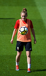 SOUTHAMPTON, ENGLAND - Thursday, April 5, 2018: Wales' Rachel Rowe during a training session at St. Mary's Stadium ahead of the FIFA Women's World Cup 2019 Qualifying Round Group 1 match against England. (Pic by David Rawcliffe/Propaganda)
