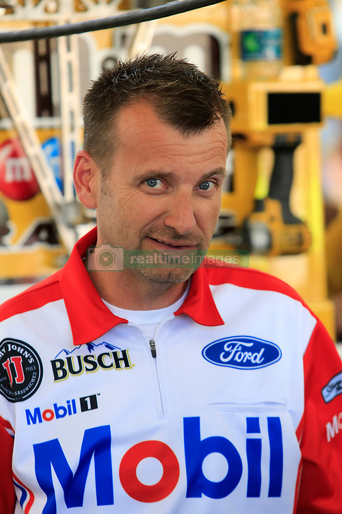 September 14, 2018 - Las Vegas, NV, U.S. - LAS VEGAS, NV - SEPTEMBER 14: Rodney Childers, crew chief for Kevin Harvick (4) Stewart-Haas Racing Ford Fusion during practice for the South Point 400 Monster Energy NASCAR Cup Series Playoff Race on September 14, 2018 at Las Vegas Motor Speedway in Las Vegas, NV. (Photo by David Griffin/Icon Sportswire) (Credit Image: © David Griffin/Icon SMI via ZUMA Press)