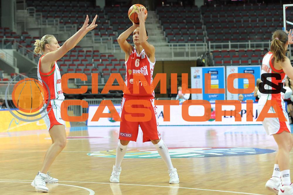 DESCRIZIONE : Riga Latvia Lettonia Eurobasket Women 2009 Qualifying Round Bielorussia Russia Belarus Russia<br /> GIOCATORE : Marina Kuzina<br /> SQUADRA : Russia Russia<br /> EVENTO : Eurobasket Women 2009 Campionati Europei Donne 2009 <br /> GARA : Bielorussia Russia Belarus Russia<br /> DATA : 12/06/2009 <br /> CATEGORIA : tiro<br /> SPORT : Pallacanestro <br /> AUTORE : Agenzia Ciamillo-Castoria/M.Marchi<br /> Galleria : Eurobasket Women 2009 <br /> Fotonotizia : Riga Latvia Lettonia Eurobasket Women 2009 Qualifying Round Bielorussia Russia Belarus Russia<br /> Predefinita :