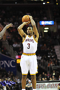 Oct. 30, 2010; Cleveland, OH, USA; Cleveland Cavaliers point guard Ramon Sessions (3) shoots a jump shot during the first quarter against the Sacramento Kings at Quicken Loans Arena. Mandatory Credit: Jason Miller-US PRESSWIRE
