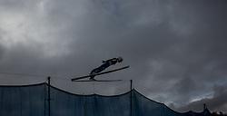 01.01.2016, Olympiaschanze, Garmisch Partenkirchen, GER, FIS Weltcup Ski Sprung, Vierschanzentournee, Probedurchgang, im Bild Simon Ammann (SUI) // Simon Ammann of Switzerland during his Trial Jump for the Four Hills Tournament of FIS Ski Jumping World Cup at the Olympiaschanze, Garmisch Partenkirchen, Germany on 2016/01/01. EXPA Pictures © 2016, PhotoCredit: EXPA/ JFK