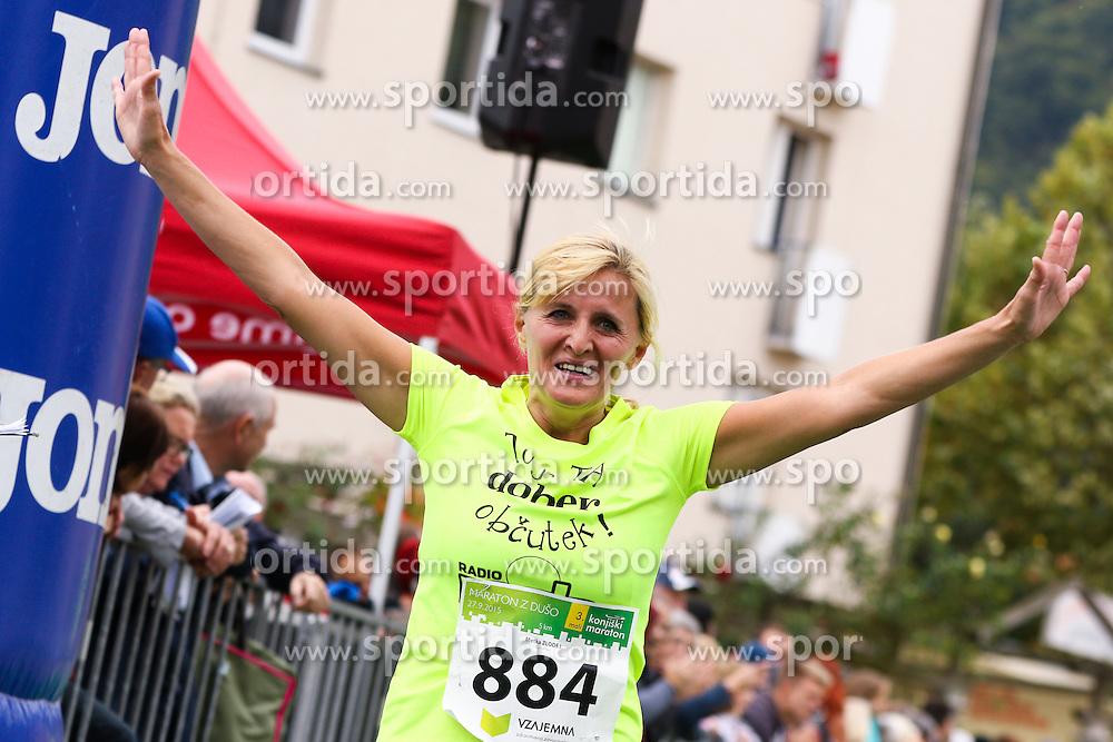 Metka Zlodej competes during 3. Konjiski maraton / 3rd Marathon of Slovenske Konjice, on September 27, 2015 in Slovenske Konjice, Slovenia. Photo by Urban Urbanc / Sportida