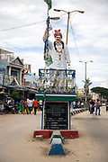 PUTTARPATHI, INDIA - 27th October 2019 - Statue in village surrounding Puttarpathi, Andhra Pradesh, South India