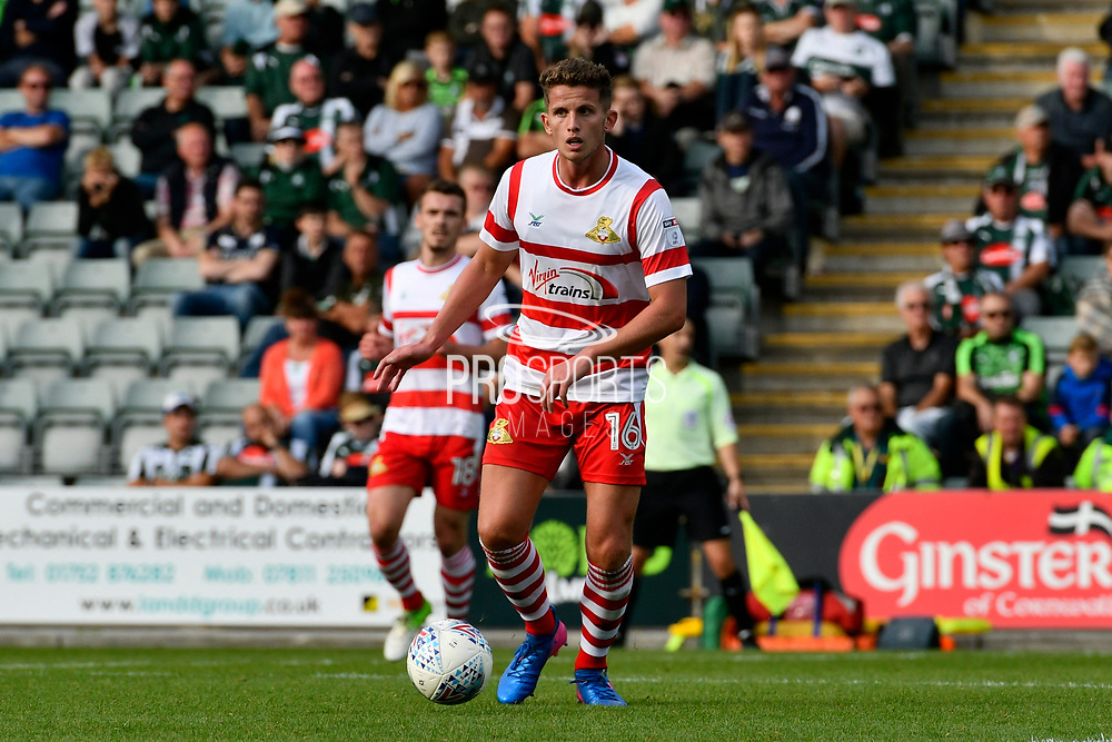 Jordan Houghton (16) of Doncaster Rovers during the EFL Sky Bet League 1 match between Plymouth Argyle and Doncaster Rovers at Home Park, Plymouth, England on 23 September 2017. Photo by Graham Hunt.