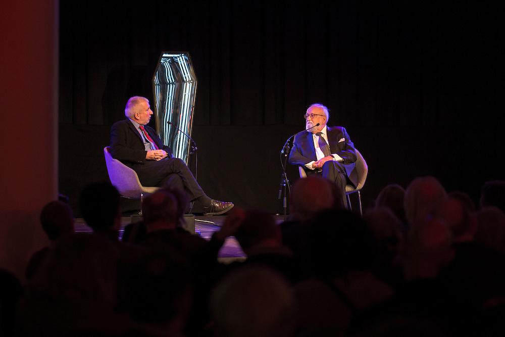 Polish composer Krzysztof Penderecki in a pre concert talk