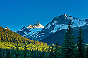 Mountain peak seen from Lower Joffre Lake<br />