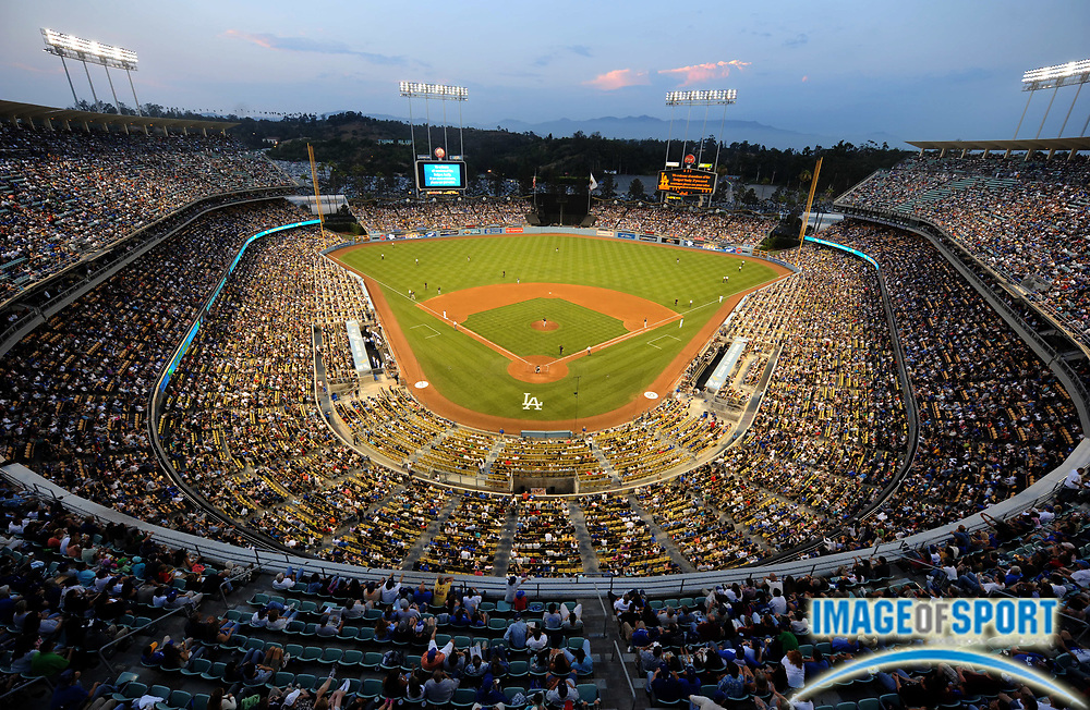 Jul 12, 2008; Los Angeles, CA, USA; General view of Dodger Stadium during game between the Florida Marlins and Los Angeles Dodgers.