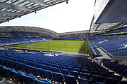 A general view of the American Express Community Stadium before the EFL Sky Bet Championship match between Brighton and Hove Albion and Blackburn Rovers at the American Express Community Stadium, Brighton and Hove, England on 1 April 2017.