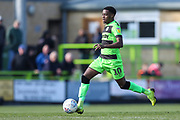 Forest Green Rovers Reece Brown(10) during the EFL Sky Bet League 2 match between Forest Green Rovers and Macclesfield Town at the New Lawn, Forest Green, United Kingdom on 13 April 2019.
