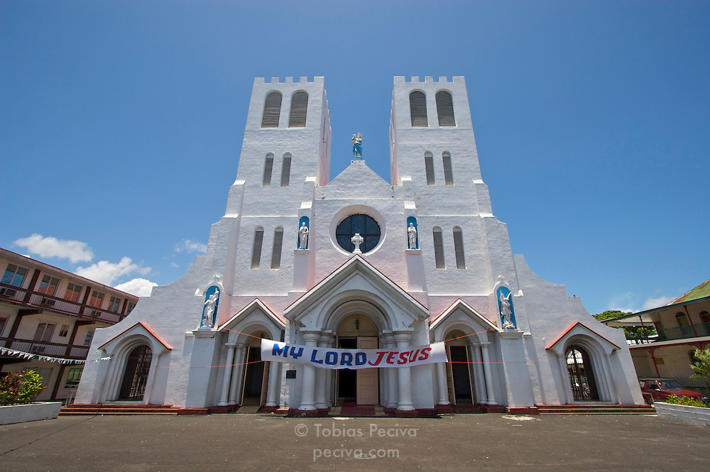Christian church in Apia, Western Samoa.