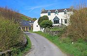 Road and houses on Cape Clear Island, County Cork, Ireland, Irish Republic